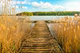 Fototapeta Pomosty - Pomost nad jeziorem