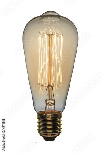 Photo Retro light bulb, Edison style