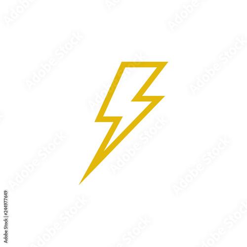 Fototapeta Bolt icon graphic design template vector obraz na płótnie