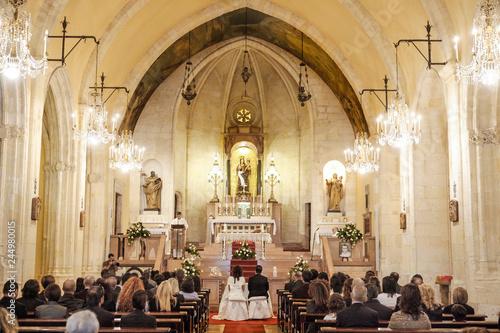 Obraz na plátně  Interno della Basilica Nostra Signora di Bonaria a Cagliari