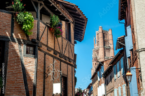 walk in the small streets of the city of Albi Wallpaper Mural