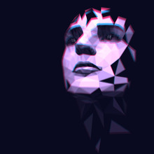 Low Poly Face Of A Woman In Th...