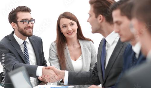 business people handshake after negotiations