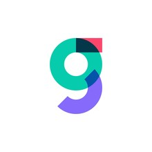 G Letter Logo Overlapping Color Vector Icon Mark
