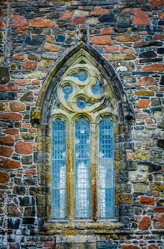 Valokuva Gothis Window Detail from Iona Abbey