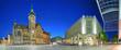 canvas print picture - Chemnitz Sachsen Markt Marktplatz mit Rathaus und Galerie