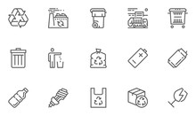 Garbage Vector Line Icons Set....