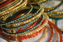 Colorful Traditional Indian Bangles
