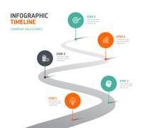 Timeline Infographics - Company Milestones