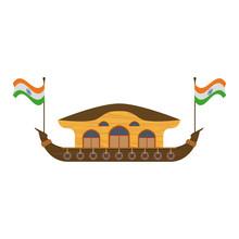 Kerala Houseboat Isolated