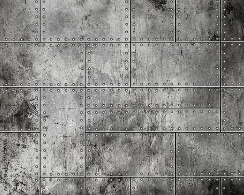 Grunge metal background - 245013657