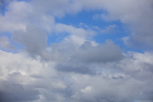Just A Cloudy Blue Sky Stock Image