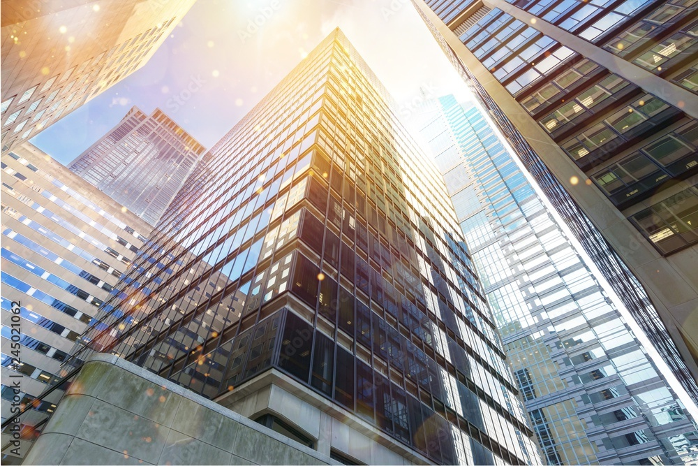 Fototapety, obrazy: Modern office buildings in city