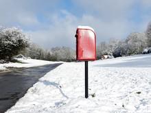 Red Post Box, Dog Kennel Lane,...