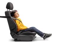 Kid Sleeping In A Car Seat