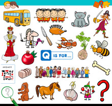 Q Is For Educational Game For Children
