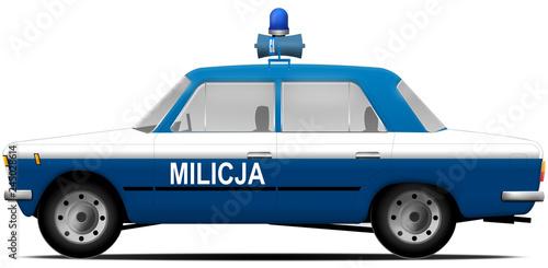 FSO Polski Fiat 125p MILICJA OBYWATELSKA 1975-1982 Obraz na płótnie