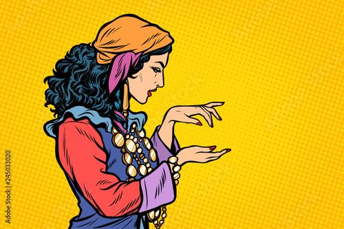 Woman fortune teller Gypsy Wallpaper Mural