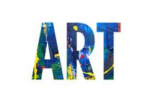 Paint Textured Art Word Concept