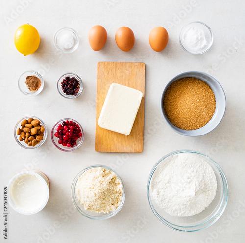 Fototapeta ingredients for Easter cake obraz