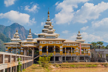 Kyaut Ka Lat (Kyaut Kalat Or Kyauk Kalap) Buddhist Temple Near Hpa An, Myanmar