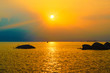 beautiful sunrise orange