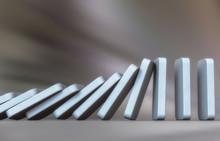 Domino Effect In Action(3d Ren...