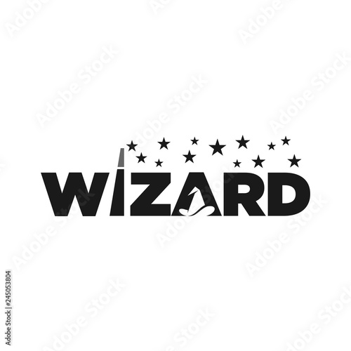 wizard vector logo Canvas Print