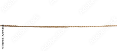 Obraz Old rope on white background. Simple design - fototapety do salonu