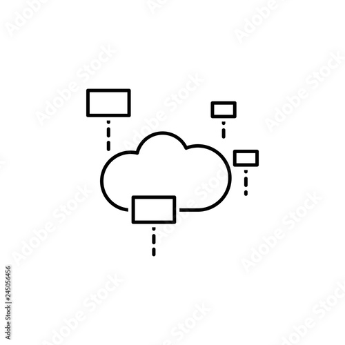 data, cloud icon  Element of technological data icon for