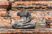 Headless Ancient Buddha Statue...