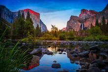 Twilight Reflections On Yosemi...