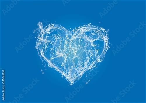 Obraz na plátně Water Heart