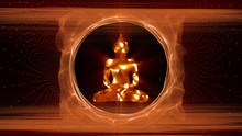 Abstract Buddha Meditating Pos...