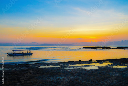 Canvas Prints Inspirational message sunset over the sea
