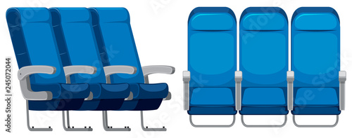 Set of airplane seat Fototapeta