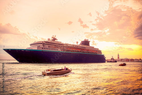 large cruise liner in Venice