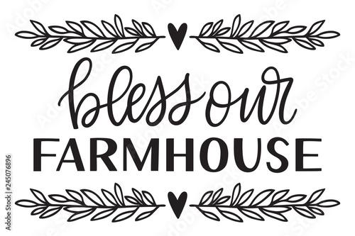 Obraz na plátne kbecca_bless_our_farmhouse_handwritten_vector