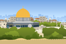 Dome Of Rock Jerusalem Illustration