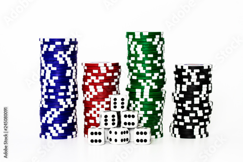 Foto  Einsatz beim Glücksspiel