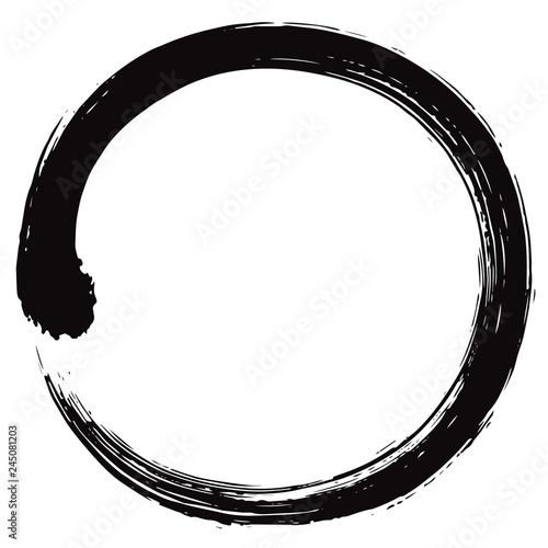 Enso Japanese Zen Circle Brush Vector Illustration Ink Vector Wall mural