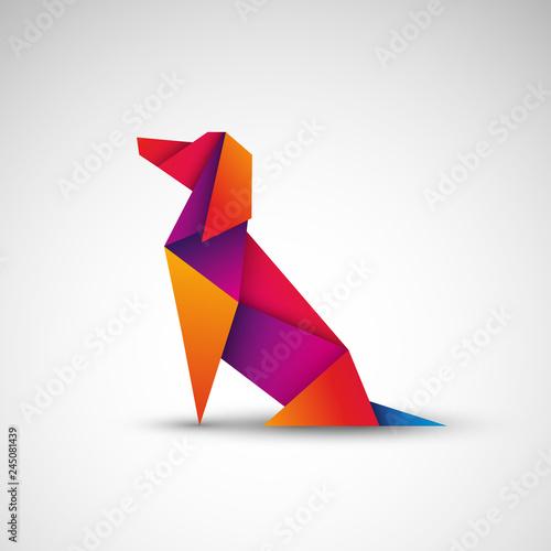 pies origami wektor #245081439