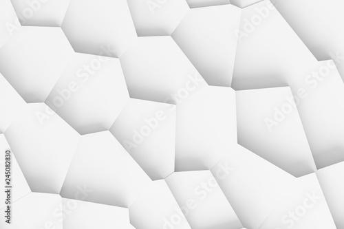 Fotografie, Obraz  Light digital texture of different-sized blocks of different shapes towering one
