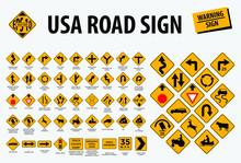 Usa Road Sign - Warning Sign. ...