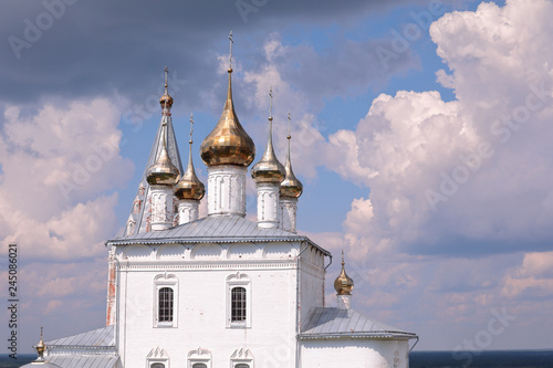 Fotografie, Obraz  Domes of Trinity Cathedral at Nikolsky Men's Monastery, Gorohovets, Russia