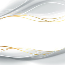 White And Shadow Gray Smooth Lines For Abstract Background. Vector Illustration, Eps 10 Contains Transparencies.