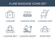 6 baggage icons