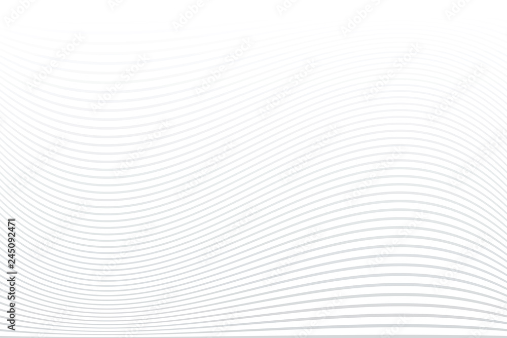 Fototapety, obrazy: White striped background. Abstract wavy lines texture.