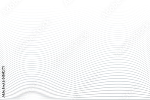 Fotografie, Obraz  White striped background. Abstract wavy lines texture.
