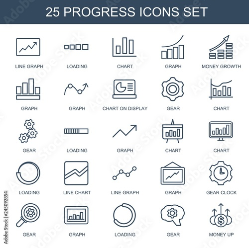 progress icons Fotomurales